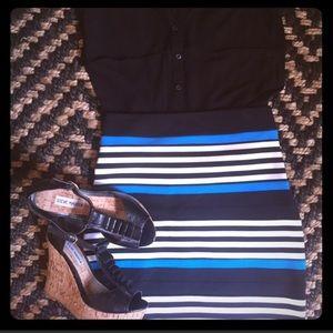 •EXPRESS• Striped bodycon skirt